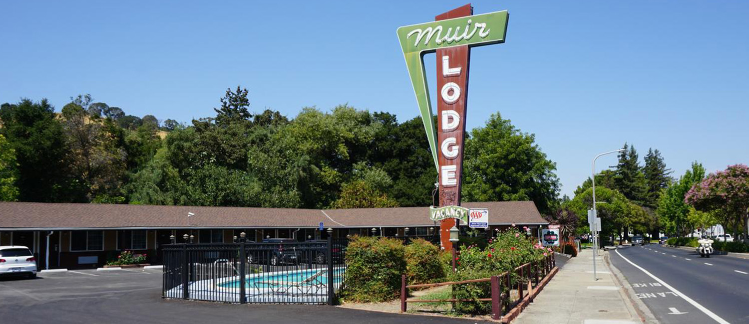 WELCOME TO MUIR LODGE MOTEL IN MARTINEZ, CALIFORNIA